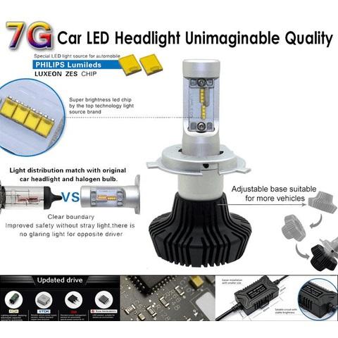 Набор светодиодного головного света UP-7HL-PSX24W-4000Lm (PSX24, 4000 лм, холодный белый) Превью 2