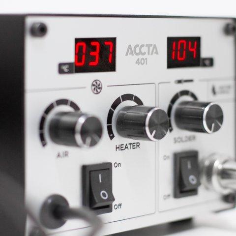 Термоповітряна паяльна станція Accta 401 Прев'ю 2